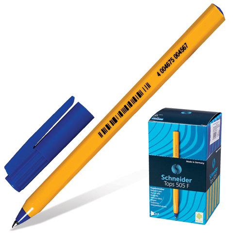 Ручка шариковая SCHNEIDER (Германия) Tops 505 F, корпус желтый, 0,8мм, линия 0,4мм, синяя, 150503  Код: 141216
