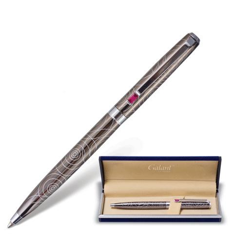 Ручка подарочная шариковая Galant (Галант) Kawasaki, корпус серебристый, хром. детали, 0,7мм, синяя, 141361  Код: 141361