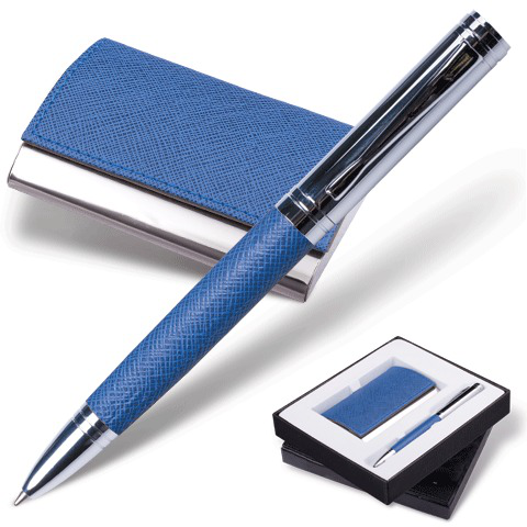 "Набор Galant (Галант) ""Prestige Collection"": ручка, визитница, синий ""фактурная кожа"", подар.кор., 141376  Код: 141376"