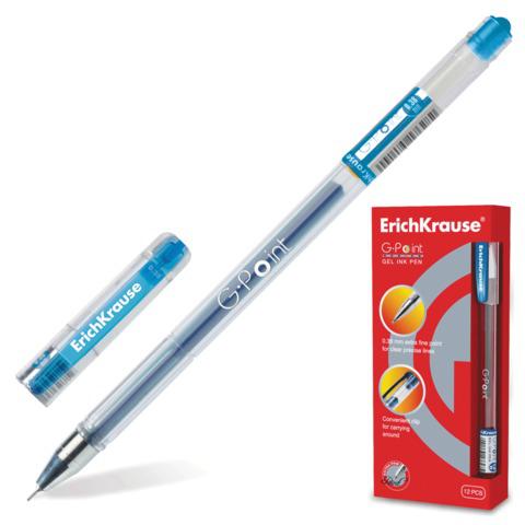 Ручка гелевая ERICH KRAUSE G-Point, игольчатый узел 0,38мм, линия письма 0,25мм, синяя, 17627  Код: 141470
