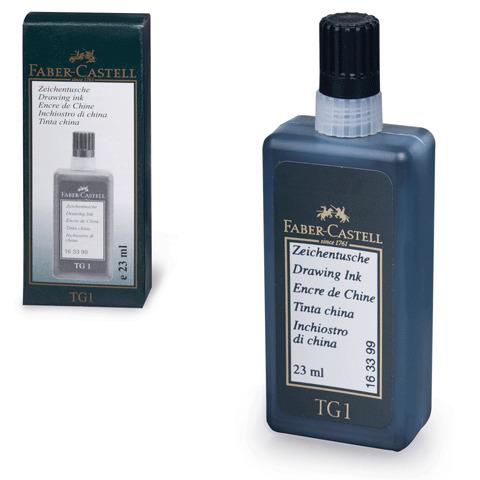 Тушь для рапидографа FABER-CASTELL ТG1-S, черная, 23 мл, картонная коробка, 163399  Код: 141505