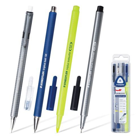 Набор STAEDTLER, ручка капиллярная, ручка шариковая, карандаш механический, текстмаркер, 34SB4  Код: 141622
