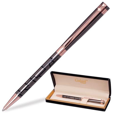 Ручка подарочная шариковая Galant (Галант) Vitznau, корпус серый, золотистые детали, 0,7мм, синяя, 141664  Код: 141664