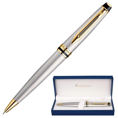 Ручка подарочная шариковая WATERMAN Expert 3 Stainless Steel GT, серебрист, позол.дет,синий, S0952000  Код: 141687