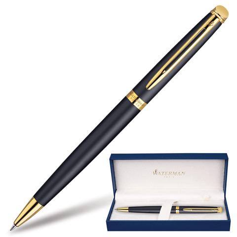 Ручка подарочная шариковая WATERMAN Hemisphere Matt Black GT, черн.мат.лак, позол.дет,синий, S0920770  Код: 141698