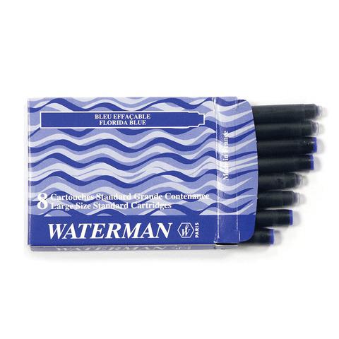 Картриджи чернильные WATERMAN, КОМПЛЕКТ 8 шт., S0110860, синие  Код: 141699