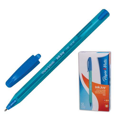 Ручка шариковая PAPER MATE Inkjoy 100, корпус тониров. голубой, 1,2мм, линия 1мм, голубая, S0977340  Код: 141910