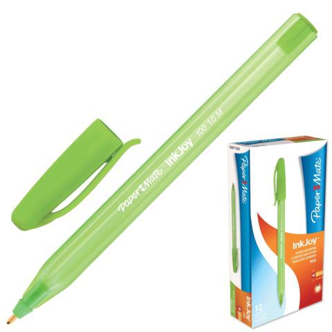 Ручка шариковая PAPER MATE Inkjoy 100, корпус тониров. зеленый, 1,2мм, линия 1мм, зеленая, S0977350  Код: 141911