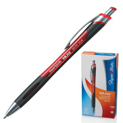 Ручка шариковая автомат. PAPER MATE Inkjoy 550 RT, узел 1,2мм, линия 1мм, красная, S0977230  Код: 141916
