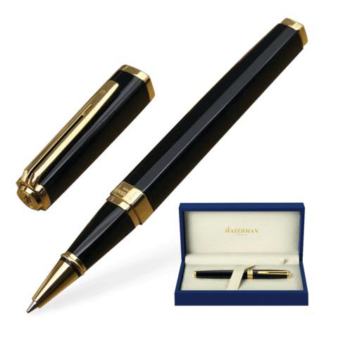 Ручка-роллер подарочная WATERMAN Exception Black GT Slim, черный лак, позолоч. детали, чер, S0636990  Код: 141952