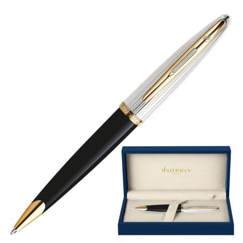Ручка подарочная шариковая WATERMAN Carene Deluxe GT, черный корпус, позолоч.детали, синяя, S0700000  Код: 141955