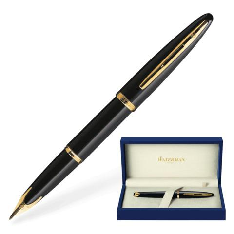 Ручка подарочная перьевая WATERMAN Carene Black Sea GT, черный лак, позолоч. детали, синяя, S0700300  Код: 141956