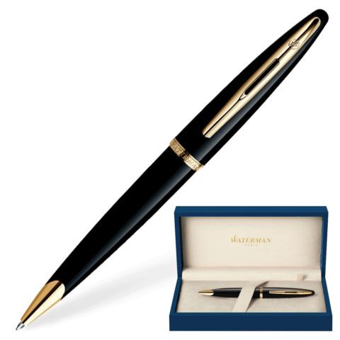 Ручка подарочная шариковая WATERMAN Carene Black Sea GT, черный лак, позолоч. детали, синяя,S0700380  Код: 141957