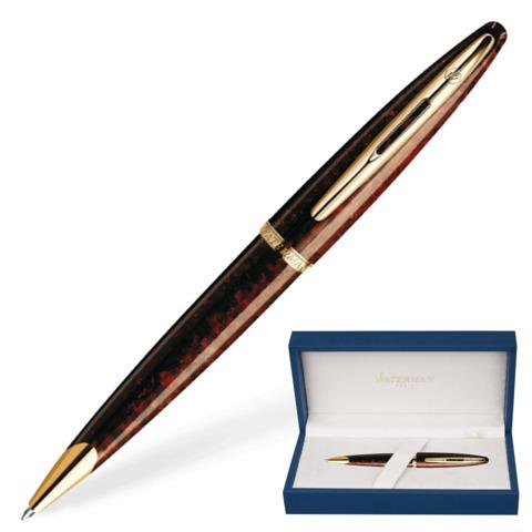 Ручка подарочная шариковая WATERMAN Carene Marine Amber GT, коричн., позолоч.детали, синяя, S0700940  Код: 141959