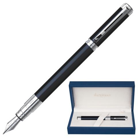 Ручка подарочная перьевая WATERMAN Perspective Black CT, черн.лак, никеле-палл.покр.дет,син,S0830660  Код: 141961