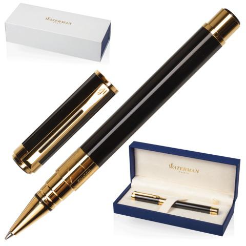 Ручка-роллер подарочная WATERMAN Perspective Black GT, черный лак, позолоч. детали, черная, S0830860  Код: 141965