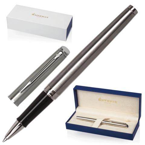 Ручка-роллер подарочная WATERMAN Hemisphere Stainless Steel CT, серебрист, хром.детали,чер, S0920450  Код: 141968