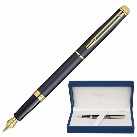 Ручка подарочная перьевая WATERMAN Hemisphere Matt Black GT, черный мат.лак, позол.дет, син,S0920710  Код: 141969