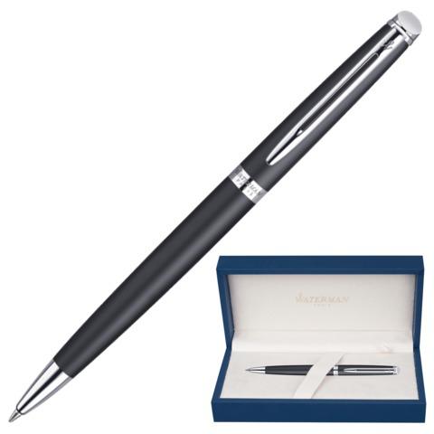 Ручка подарочная шариковая WATERMAN Hemisphere Matt Black CT, черный мат.лак, хром.дет,синий, S0920870  Код: 141970