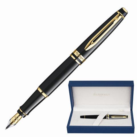 Ручка подарочная перьевая WATERMAN Expert 3 Black Lacquer GT, черный лак, позол.дет, синяя, S0951640  Код: 141971