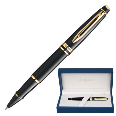 Ручка-роллер подарочная WATERMAN Expert 3 Black Lacquer GT, черный лак, позол. дет, черная, S0951680  Код: 141972