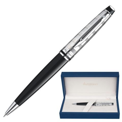 Ручка подарочная шариковая WATERMAN Expert 3 Deluxe Black CT, черн.лак, паллад.покр.дет,син,S0952360  Код: 141974