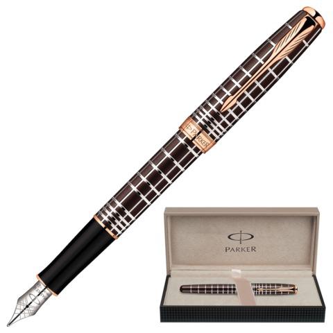 Ручка подарочная перьевая PARKER Sonnet Masculine Brown PGT,  коричн., позолоч.детали, черн, 1859480  Код: 141983