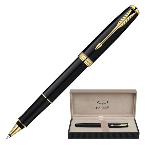 Ручка-роллер подарочная PARKER Sonnet Black Lacquer GT, черный лак, позолочен. детали, чер, S0808720  Код: 141996