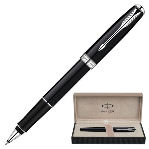 Ручка-роллер подарочная PARKER Sonnet Black Lacquer CT, черный лак, никеле-паллад.покр, чер,S0808820  Код: 141999