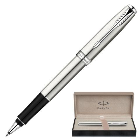 Ручка-роллер подарочная PARKER Sonnet Stainless Steel CT, серебрист., хромир. детали, черн, S0809230  Код: 142002