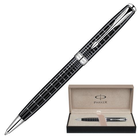 Ручка подарочная шариковая PARKER Sonnet Dark Grey CT, темно-сер.лак,никеле-паллад.покр,чер,S0912420  Код: 142030