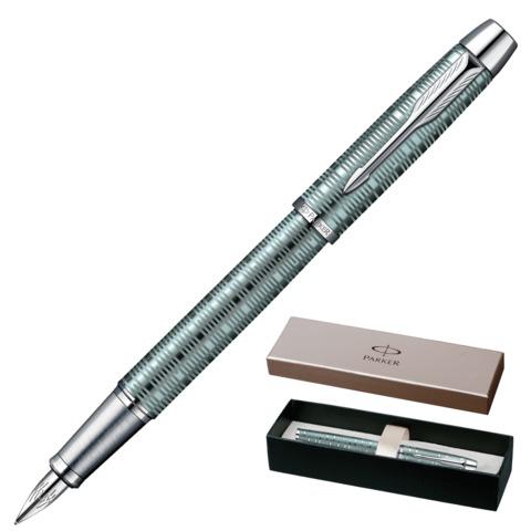 Ручка подарочная перьевая PARKER IM Premium Vacumatic Emerald Pearl CT, зелен, хром.дет,синий,1906731  Код: 142047