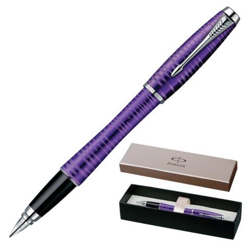 Ручка подарочная перьевая PARKER Urban Premium Vacumatic Amethyst Pearl, фиолет., синяя, 1906860  Код: 142053