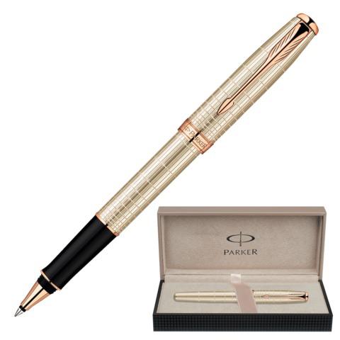 Ручка-роллер подарочная PARKER Sonnet Feminine Silver PGT, серебро, позолоч. детали, черная, 1859491  Код: 142072
