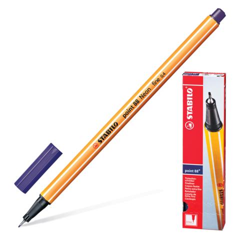 Ручка капиллярная STABILO Point, корпус оранжевый, толщина письма 0,4мм, берлинская лазурь, 88/22  Код: 142084