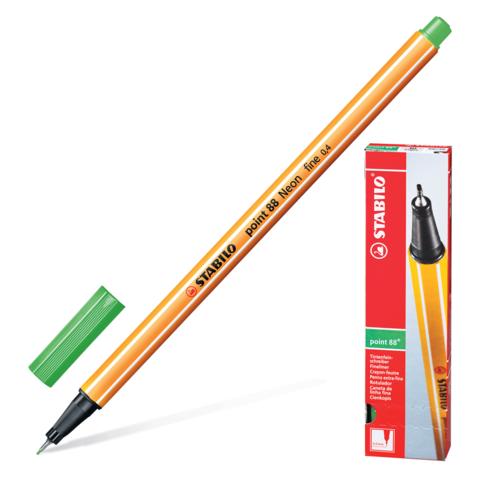 Ручка капиллярная STABILO Point, корпус оранжевый, толщина письма 0,4мм, цвет листвы, 88/43  Код: 142088