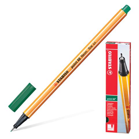 Ручка капиллярная STABILO Point, корпус оранжевый, толщина письма 0,4мм, зеленовато-бирюзовая, 88/53  Код: 142093