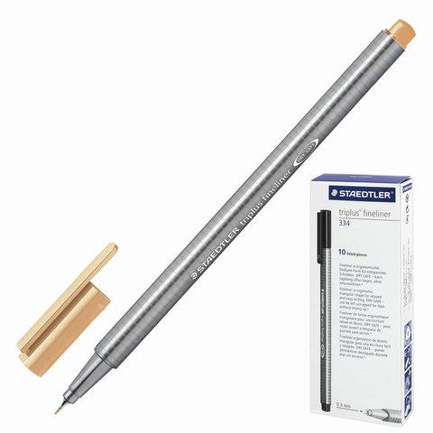 Ручка капиллярная STAEDTLER TRIPLUS FINELINER, трехгр, толщина письма 0,3мм, светло-оранжевая, 334-43  Код: 142202