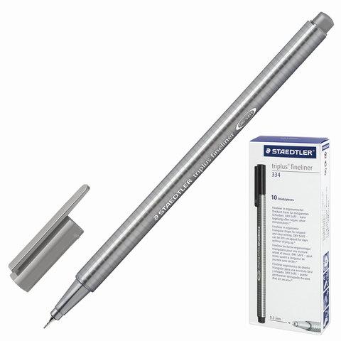 Ручка капиллярная STAEDTLER TRIPLUS FINELINER, трехгранная, толщина письма 0,3мм,светло-серая,334-82  Код: 142218