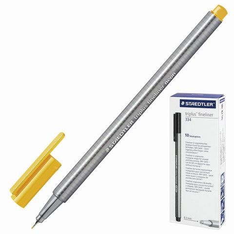 Ручка капиллярная STAEDTLER TRIPLUS FINELINER, трехгр, толщина письма 0,3мм, НЕОН оранжевая, 334-401  Код: 142235