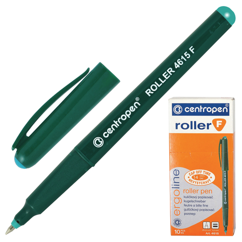 Ручка-роллер CENTROPEN, трехгранная, корпус зеленый, узел 0,5мм, линия 0,3мм, зеленая, 4615/1З  Код: 142310