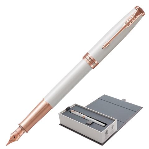 Ручка подарочная перьевая PARKER Sonnet Premium Pearl Lacquer PGT, жемч.лак, позол.дет, чер, 1931552  Код: 142323