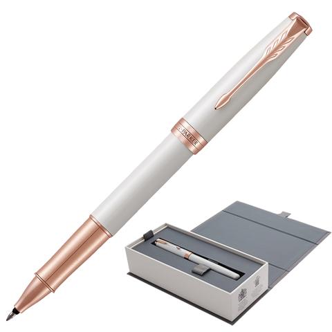 Ручка-роллер подарочная PARKER Sonnet Premium Pearl Lacquer PGT, жемч. лак, позол.дет, черн, 1931554  Код: 142324