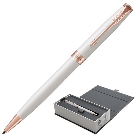 Ручка подарочная шариковая PARKER Sonnet Premium Pearl Lacquer PGT, жемч.лак, позол.дет, чер,1931555  Код: 142325