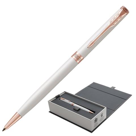 Ручка подарочная шариковая PARKER Sonnet Premium Pearl Lacquer PGT Slim, тонкая,жемч.лак,чер,1931556  Код: 142326