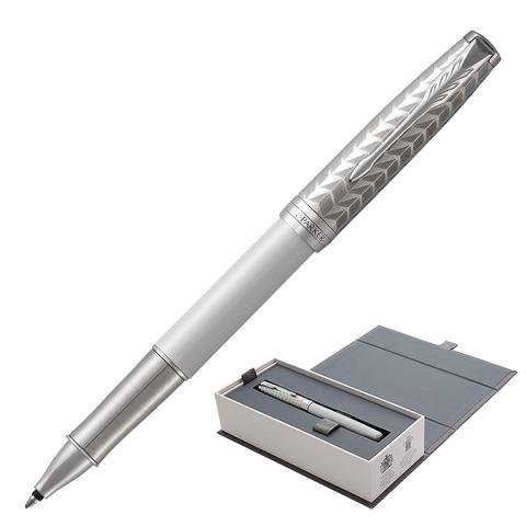 Ручка-роллер подарочная PARKER Sonnet Premium Metal & Pearl Lacquer CT, жемч.лак, паллад,чер,1931549  Код: 142328