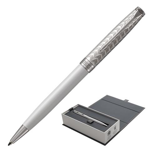 Ручка подарочная шариковая PARKER Sonnet Premium Metal & Pearl Lacquer CT, жемчужн.лак, чер, 1931550  Код: 142329