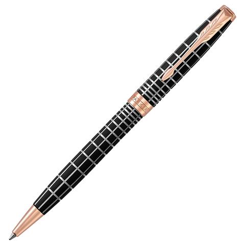 Ручка подарочная шариковая PARKER Sonnet Premium Brown Rubber PGT, коричн., позол. дет, чер, 1931483  Код: 142336