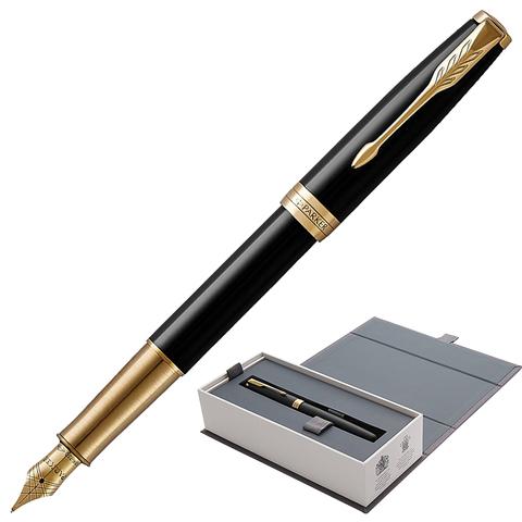 Ручка подарочная перьевая PARKER Sonnet Core Black Lacquer GT, черн.глянц.лак, позол.дет,чер,1931527  Код: 142337
