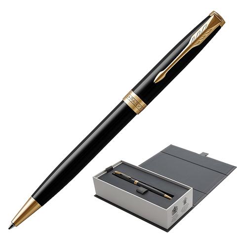 Ручка подарочная шариковая PARKER Sonnet Core Lacquer Black GT, черн.глянц.лак,позол.дет,чер,1931497  Код: 142339